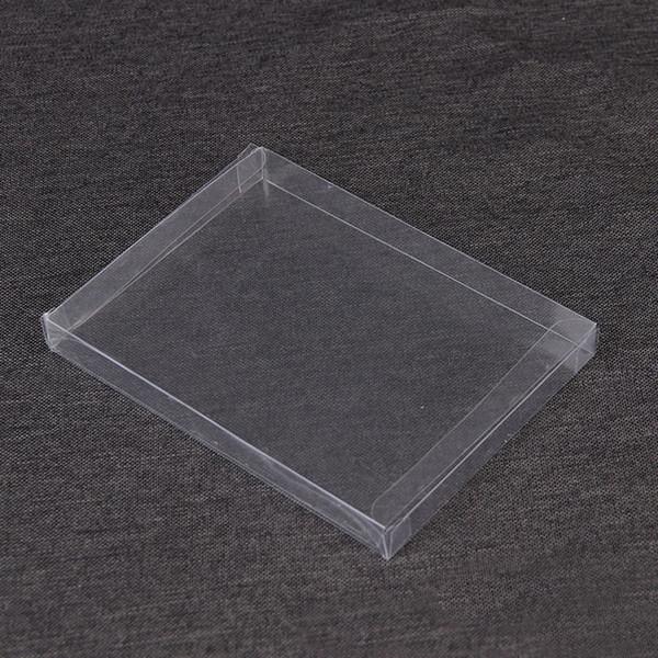 2 * 15 * 21 cm Caja de PVC Rectángulo Caja de Exhibición de Regalo Claro Joyería Artesanía Caja de Embalaje Caja de Plástico Transparente de PVC QW8827