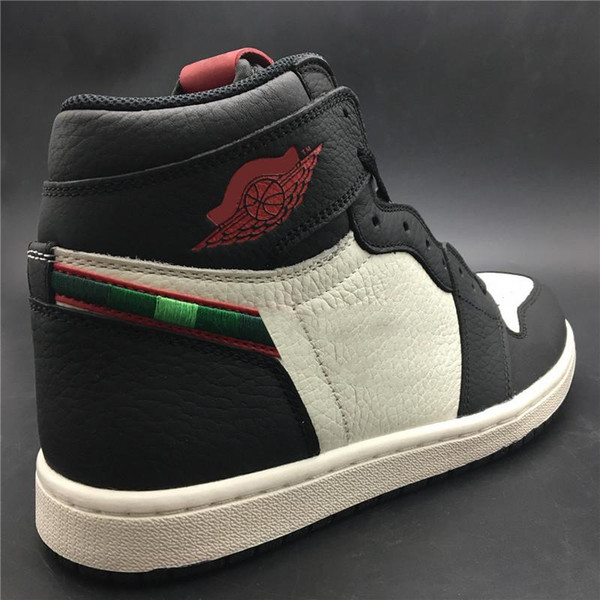a0d555e5cf3 Newest Hottest 1 High OG Sports Illustrated A Star Is Born AJ1 Black White  University Red Basketball Shoes Man Sports Sneakers 555088-015
