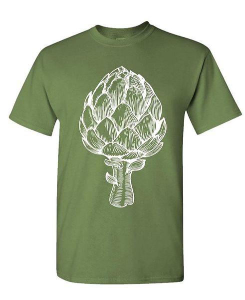 2017 New Fashion Man ARTICHOKE - heart leaf butter foodie chef - Mens Cotton T-Shirt