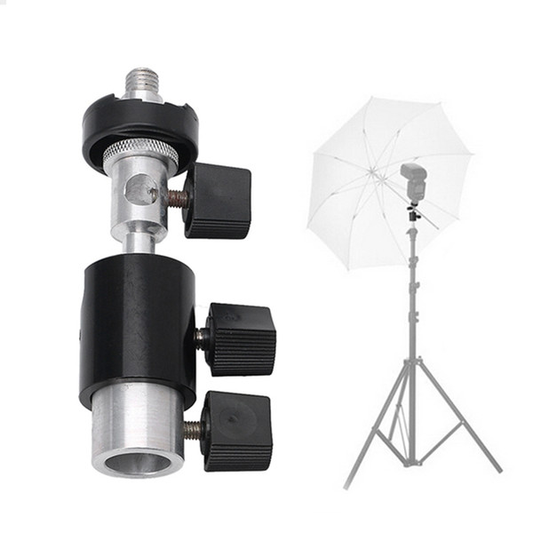 OOTDTY Type D 360 Degree Swivel Camera Flash Shoe Stand Bracket Umbrella Holder