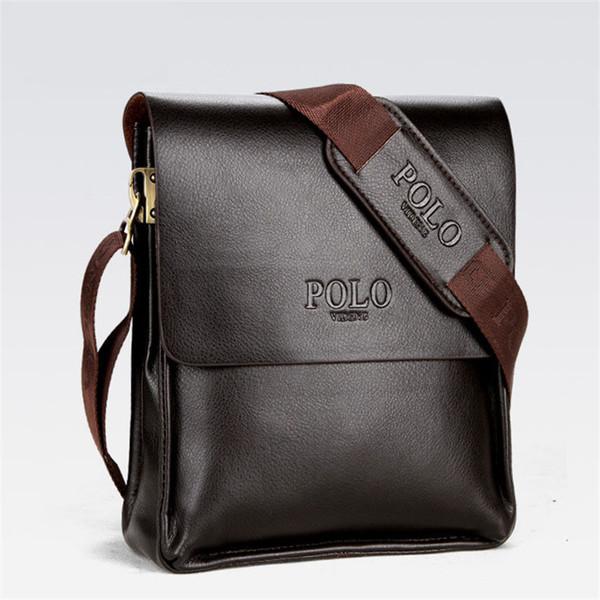 Hommes Porte-documents Sacs d'Affaires Occasionnels en cuir PU Hommes Sac messenger Vintage Hommes Crossbody Bag Bolsas Noir Sacs à bandoulière marron