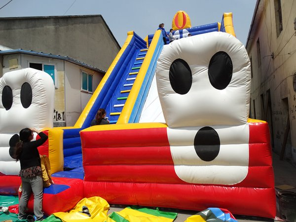 0.55mm PVC super big inflatable slide for sale inflatable fun game for kids