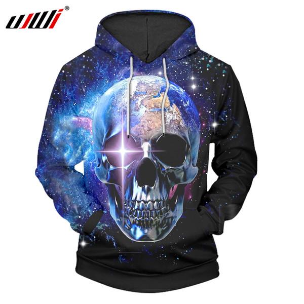 UJWI Hoodies Oversize 6xl 2018 Hot Sale Men 3d Print Skull Sweatshirt Hoodies Hombre Hip Hop Streetwear Hooded Pullovers Jackets