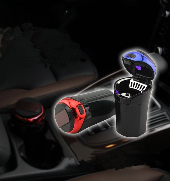 Car Ashtray For Car Truck LED Cigarette Smoke Cigar Cendrier AshtrayCenicero Cinzeiro Asbak Ash Cylinder Cup Holder