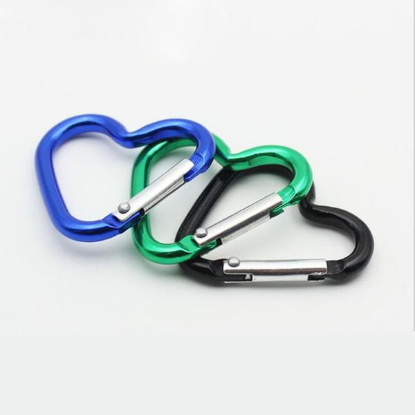 Cute Love Mini Heart Shaped Aluminum Alloy Locking Mounting Carabiner Snaphook Hook Holder 40*44mm Free Shipping ZA6065
