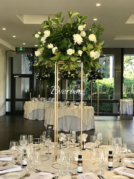 Acheter 80 Cm 110 Cm Hauteur Vase De Table En Métal Fleur Vase Table Centre De Table Pour Mariage Métal Fleurs Vases Pour La Décoration De Mariage De
