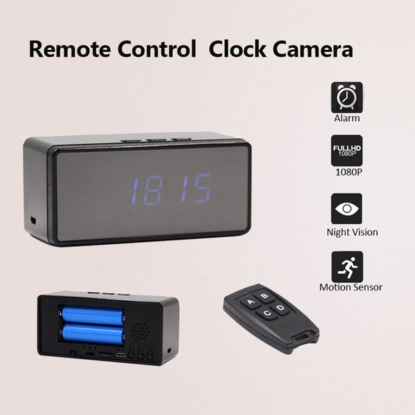 Wifi IP Mini Clock Camera 1080P 720P H.264 Mini Camera Alarm Setting Table Clock Infrared Night Vision DV DVR Cam