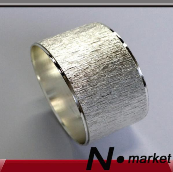 Free Shipping Light Round Iron Scrub Silver Napkin Rings For Weddings Home Table Accesorries Napkin Holder