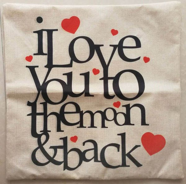 top popular Hot sale cushion cover square pillowcase 45cm * 45cm beige background creative letters fashion design freeshipping wholesale retailing 2019