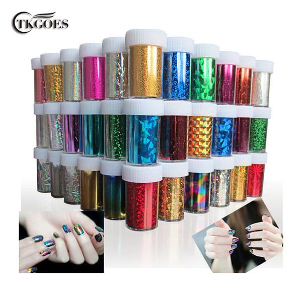 TKGOES 12 PCS/lot Designs Nail Art Transfer Foils Sticker,Free Adhesive Nail Polish Wrap,Nail Tips Decorations Accessories