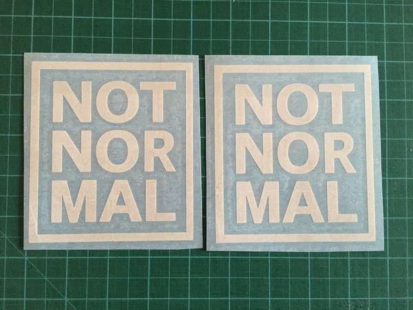 Style de voiture pour 2pcs NON NORMAL Vinyl Emblème Decal Sticker Graphique Mini Cooper S JCW