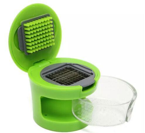 Pratico kit di utensili da cucina per la casa Aglio Press Chopper Affettatrice a mano Pressatore di aglio Grinder Box confezione indipendente