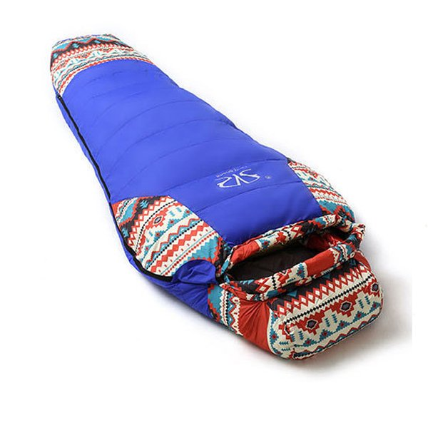 ethnic flavor duck down sport hiking sleeping bags outdoor winter camping duck down mummy waterproof sleeping bags