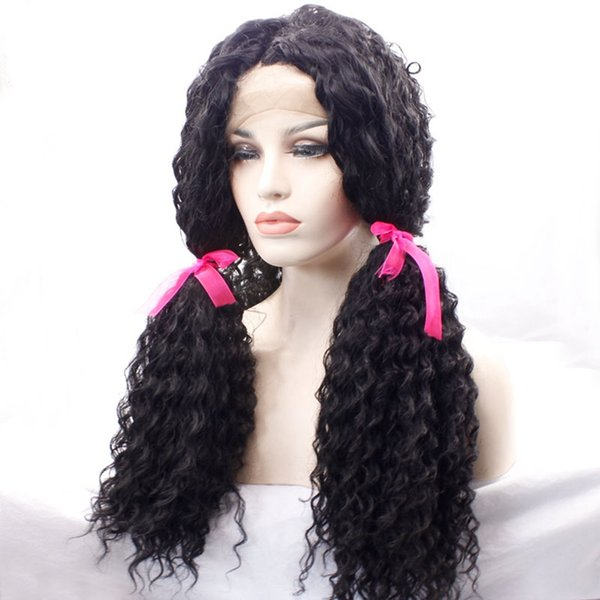 Top Quality Loose Curly Synthetic Lace Front Wigs For Black Women African American Wigs Synthetic Lace Front Wig Heat Resistant Wig