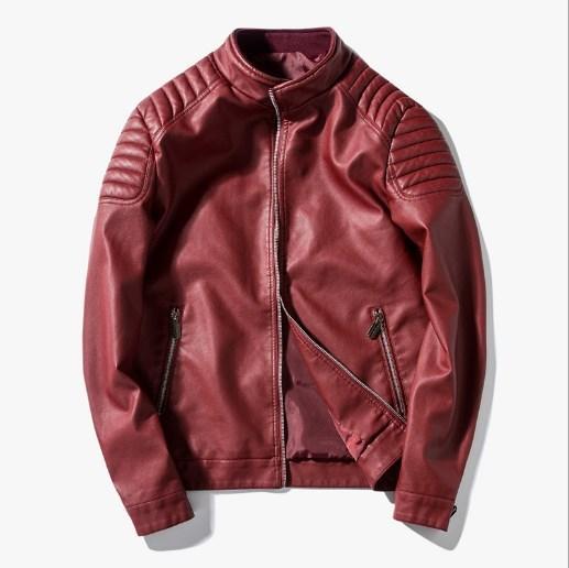 Male Motorcycle Leather Jackets Men Moto Biker Jacket Men Faux Leather Coats Mens Slim Fit Lether Outerwear Black Blue Red 3XL