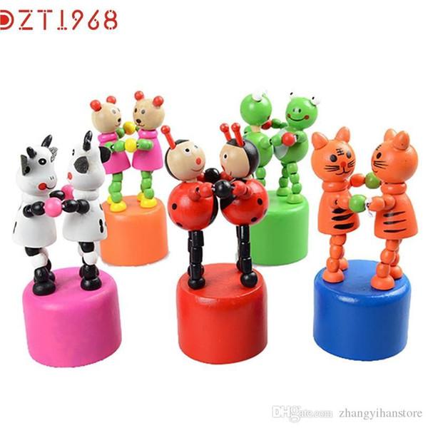 Toptan-DZT6 Best seller komik Çocuk Zeka Oyuncak Dans Standı Renkli Sallanan Zürafa Ahşap Oyuncak Standı Jirafa juguete de madera S15