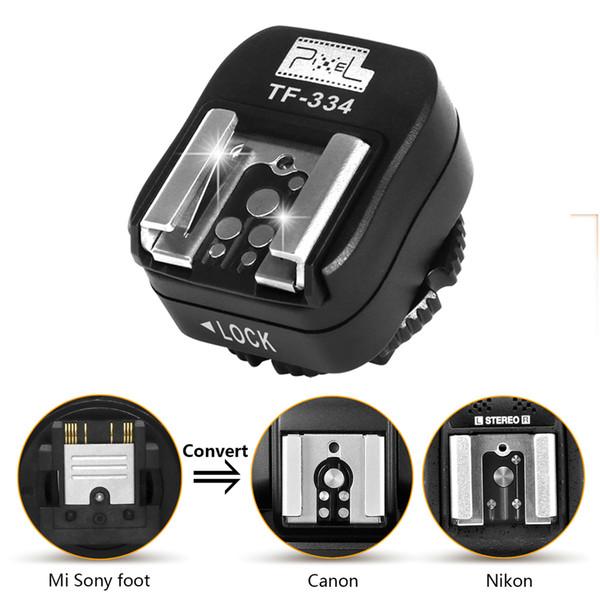 Atacado tf-334 flash adaptador de sapata para sony mi A7 A7R A7S II A99 A6000 A6300 RX10 NEX6 converter para Canon Nikon Yongnuo Godox