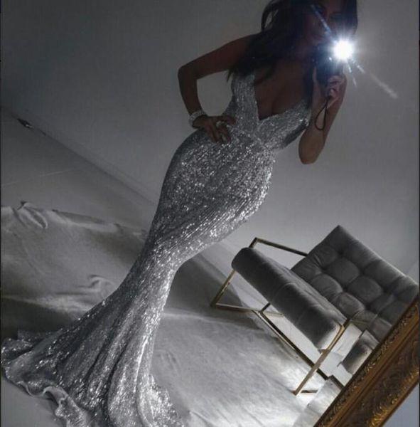 Evening Dress Long Dress Sleeveless Crystal Spandex Spaghetti Mermaid Beautiful Fashion Suitable for all shapes Comtemporary ay