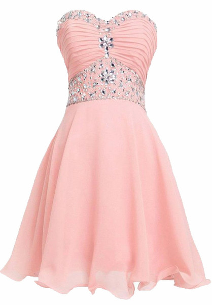 2018 New Lovely Short Prom Party Dress Homecoming Dresses For Juniors Women Plus Size Appliques Graduation Party Prom Formal Gown BQ51