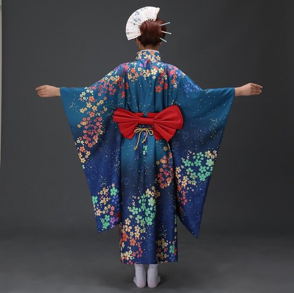 Robe formelle pour femme Design long kimono traditionnel Vêtements pour kimono japonais Yukata traditionnel
