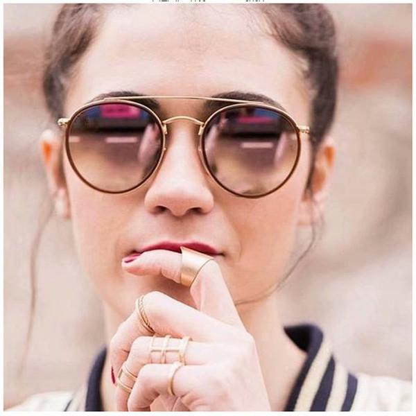 11 colors Brand sunglasses men women fashion Resin lens glasses Retro brand design round frame uv400 Goggle Fashion factory Price HOT