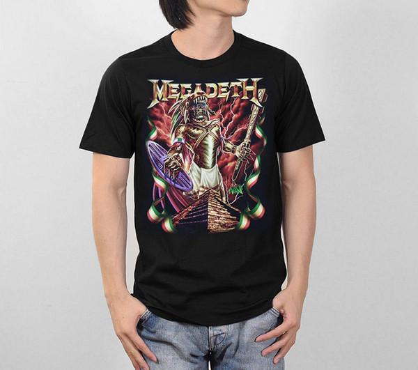 Shirt Design Office Megadeth Thrash Metal Rock Music Band Retro Vintage Graphic Men Tee T Shirt S to 3XL O-Neck Short-Sleeve Tee
