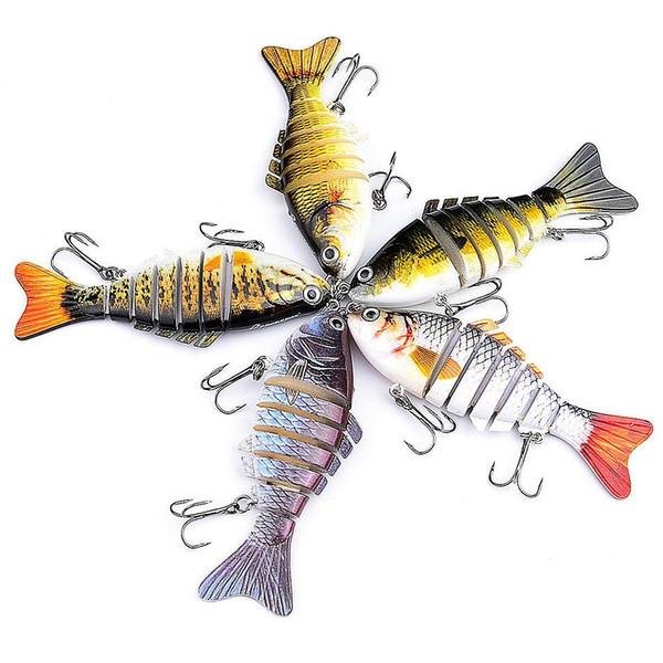 Segment Multi Jointed Fishing Lure Minnow Crank Baits Bass Life-like Swimbait Classic Multi Section BBA304