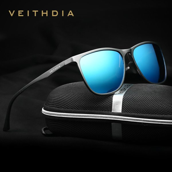 VEITHDIA Brand Mens Sun Glasses Ultra Thin Aluminum HD Polarized Men Sunglasses Glasses Mirror Lens Driving Shades For Men/Women D18101302