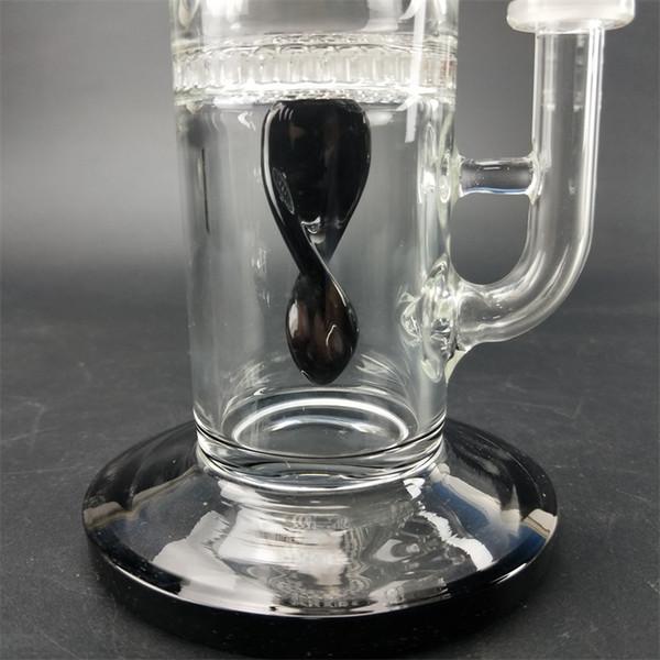 14,5 mm tubo dellacqua narghil/è con bong in vetro per tubi di fumo Ciotola in vetro 19 Bong in vetro con percolato di Tornado