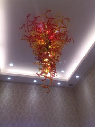 Chihuly Murano Glass Chandelier G9 LED Bulbs with Cheap Price Crystal Hanging Lamp for Living Room Deco Free Shipping