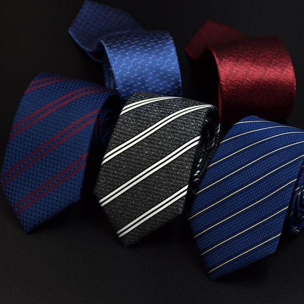 Бизнес профессиональный высококачественный шелковый галстук шелк мужчины пряжи окрашенные жаккардовые галстук