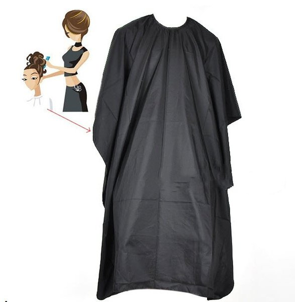 Salon Adult Waterproof Hair Cutting Hairdressing Cloth Barbers Hairdresser Cape Gown Wrap Black Big Size 140*100