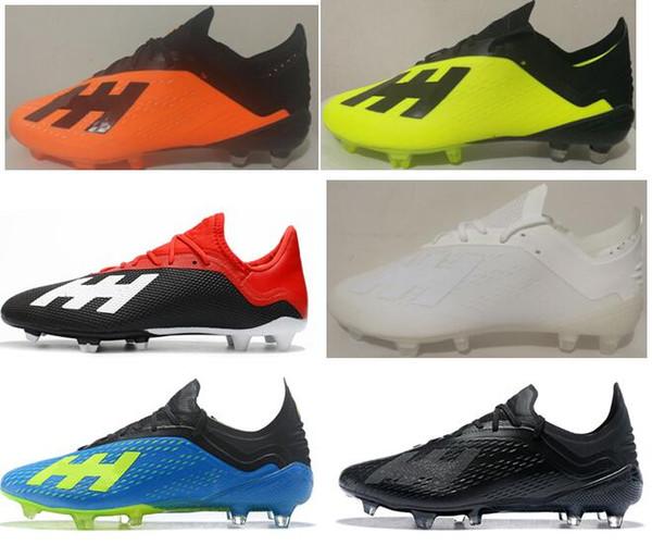 Botines de fútbol para exteriores de malla Messi Speed de Adidas X18 New New Low Toble Football Boots X 18 FG Calzado de fútbol