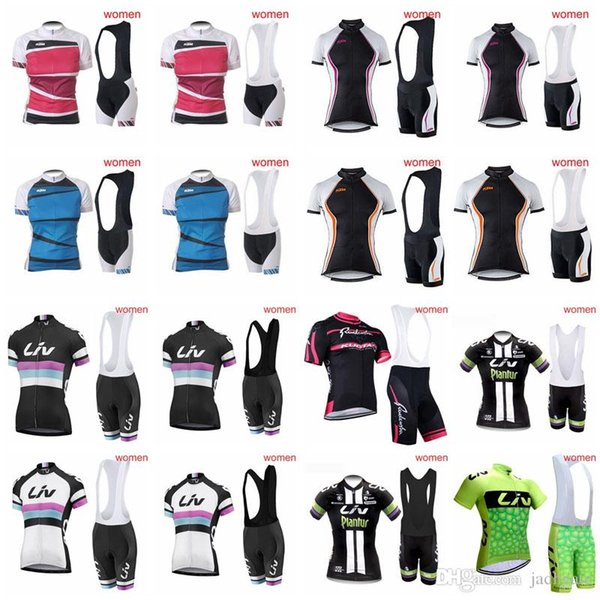 ORBEA KTM team Cycling Short Sleeves jersey (bib) shorts sets Summer Style For women Ropa Ciclismo Cycling Tops bib shorts sets 81601J