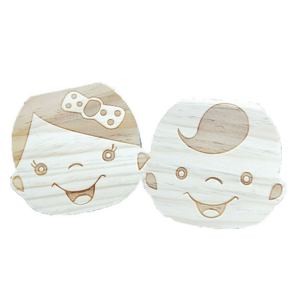 Wholesale-Tooth Box for Baby Save Milk Teeth Boys/Girls Image Wood Storage Boxes Creative Gift for Kids Travel Kit C1892
