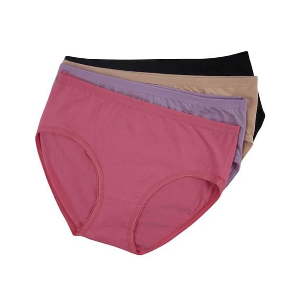 L -XXXL Plus Size Cotton Women's Panties High Waist Cotton Anti Emptied Middle-aged Women Underwear calzones mujer de marca CD03