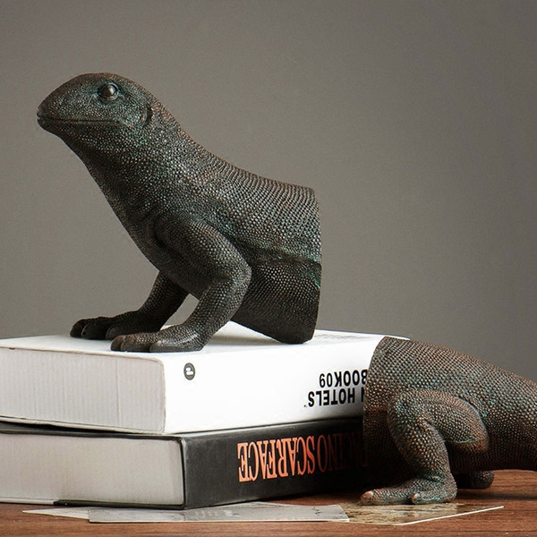 2018 American Study Retro Home Decoration Accessories Creative Animal  Bookends Lizard Bookends Home Furnishing Jewelry Ornaments From Prettyxiu,
