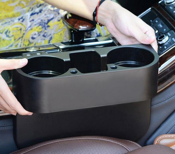 top popular Universal Cup Holder Auto Car Truck Food Water Mount Drink Bottle 2 Stand Phone Glove Box New Car Interior Organizer Car Styling 2019