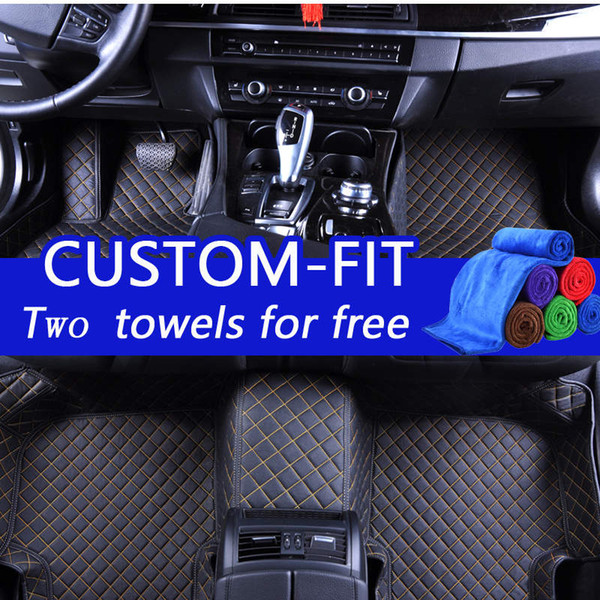 Wholesale custom car floor mats for honda accord 2010 luxury 3d leather car floor mats waterproof custom fit dust-proof protects stains