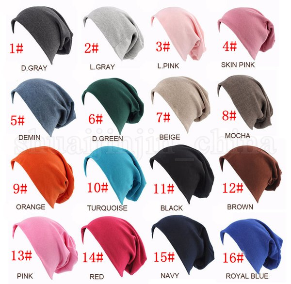 Compre 16styles Invierno Slouch Beanie Hat Hip Hop Cap Ciclismo Al ...