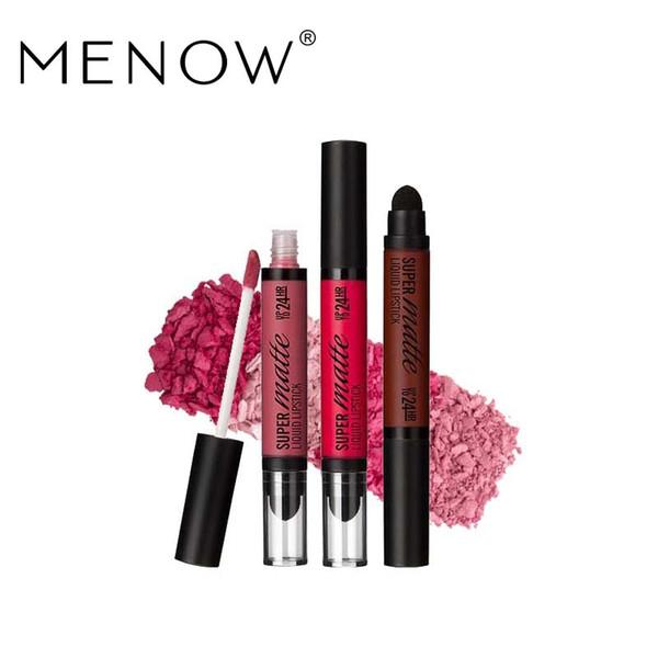 MENOW Brand Perfect Lip gloss Cosmetics Long Lasting Matte Liquid Lipstick Moisturizer Lip gloss Whole sale make up EMS DHL L506