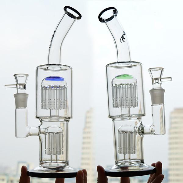 Toro Bongs Wasserpfeifen 7 Arm bis 13 Arm Baum Perc Recycler Bubbler Oil Rigs 11