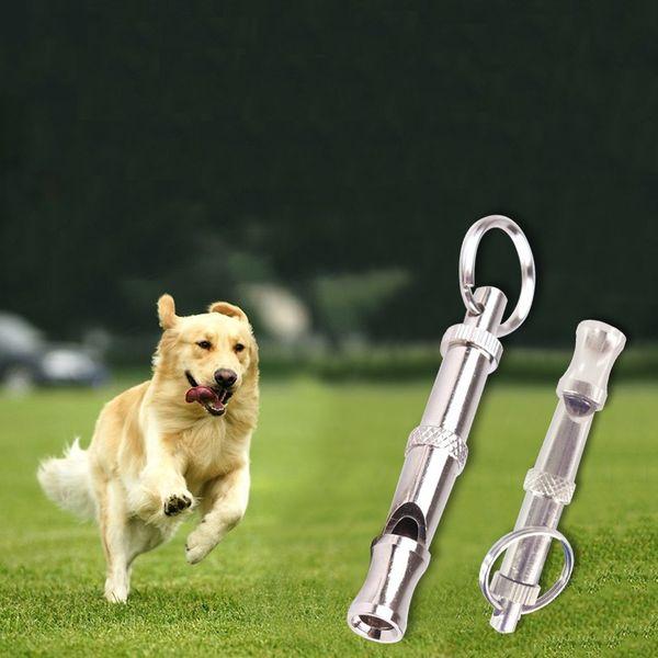 SCHNELLES Verschiffen Qualitäts-Haustier-Trainings-Pfeifen justierbare Ultraschallschlüsselkette Hundepfeife LX0166