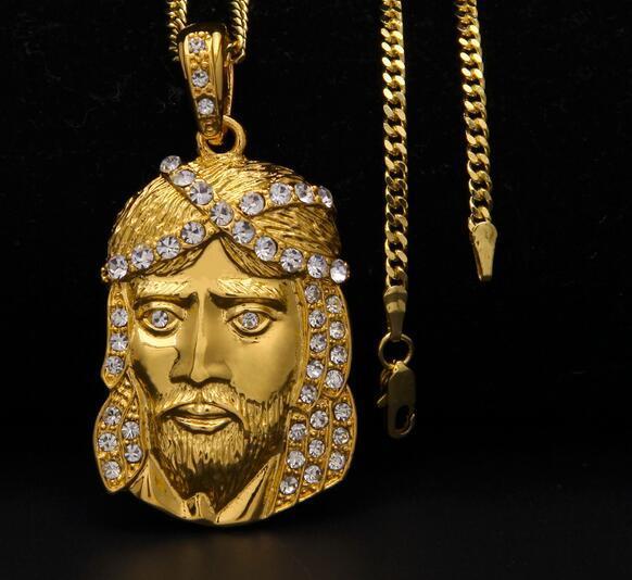 14K or nouveaux hommes femmes hip hop diamant statue pendentif JUSES PENDENTIF