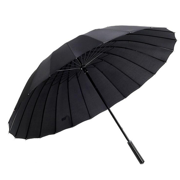 Large Size Classic Windproof Golf Umbrella Parasol Stick Umbrella with 24 Ribs for Men Women, Durable and Strong (10 Color)