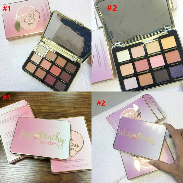 Ju t peachy matte and white peach 12 color eye hadow palette 12color peachy eye hadow palette matte makeup dhl newe t