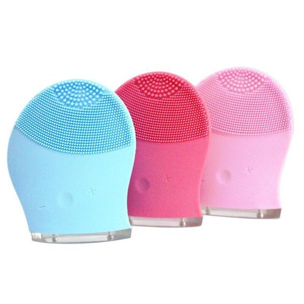 3 Colors Electric Face Cleanser Vibrate Pore Clean Silicone Cleansing Brush Massager Facial Vibration Skin Care Spa Massage