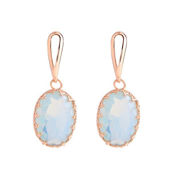 Moda semplice femminile opale orecchini moda personalità orecchini femminile geometrica