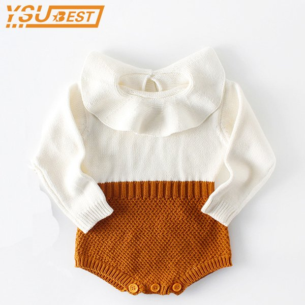 348923668209 Baby Romper Newborn Baby Clothes 2018 Spring Autumn Cute Princess Kids  Girls Boys Long Sleeve Jumpsuit Infant Knitted Rompers