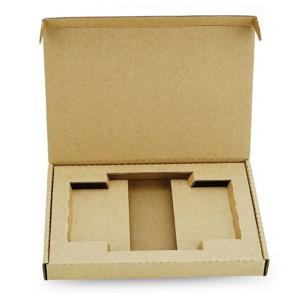 50 pcs Custom Handmade Folding Kraft Paper Box For Phone Case Hard Delivery Box For Cell Phone Cover Gift Packaging Box